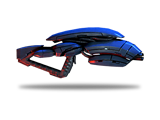 A geth pulse rifle with a high rate of fire and steady aim.