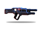 Krogan rifle with explosive rounds. Its rate of fire increases when the trigger is held.