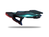 The Prothean Particle rifle. An alien energy weapon.