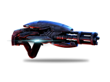 This fully automatic weapon fires charged projectiles that break apart and create plasma on impact.