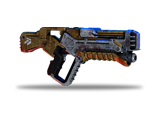 Krogan weapon that causes blood loss damage over time. Can be charged for more damage.