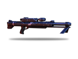Heavy sniper rifle that can fire multiple times before reloading.