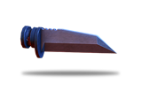 Tungsten carbide bayonet with recessed edge increases melee damage.