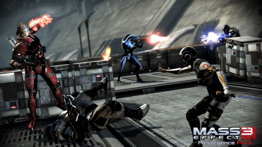 Mass Effect 3 multiplayer promo screenshot.