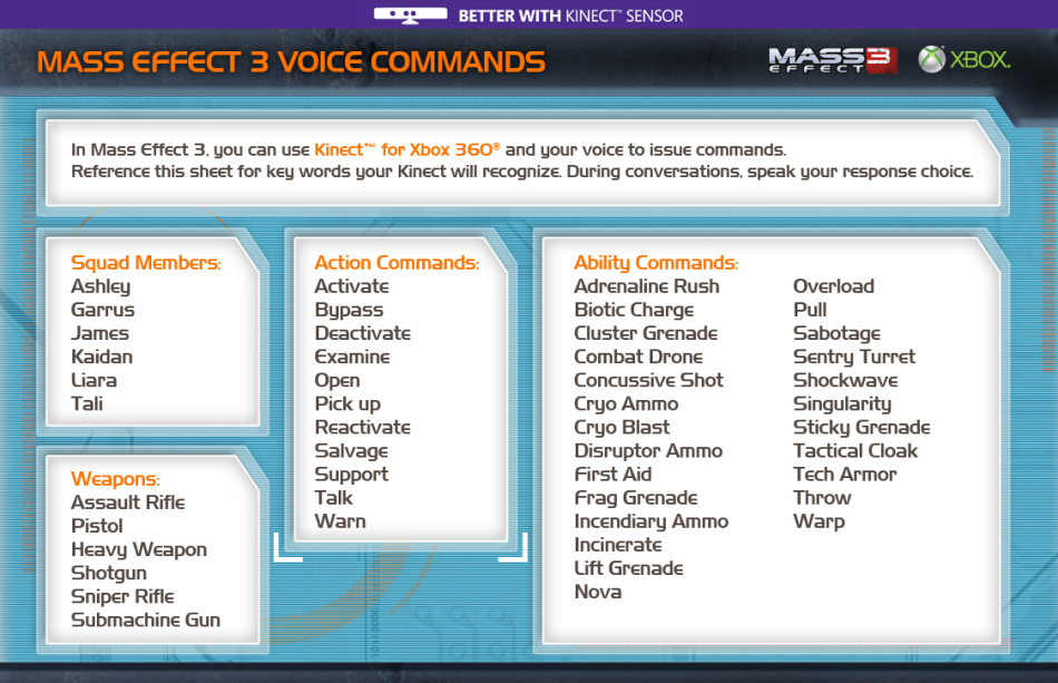 BioWare | Mass Effect | Better with Kinect